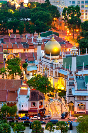 singapore culture: This image shows the Masjid Sultan Mosque,  in Singapore Stock Photo