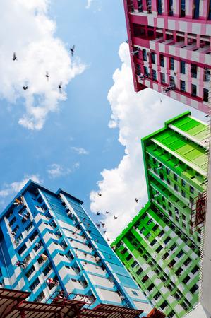 High Density Housing Block in Singapore