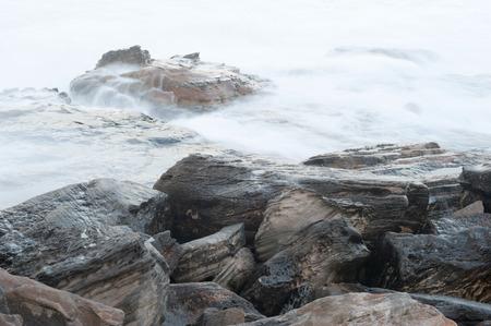 shore line: This image shows the shore line at Mahon Park, Sydney, Australia