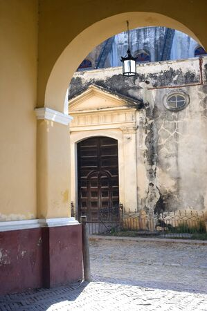 This image shows the colonial architecture of trinidad, Cuba photo