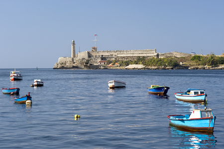 This image shows the Lighthouse in Havana's harbour. Reklamní fotografie - 39913485