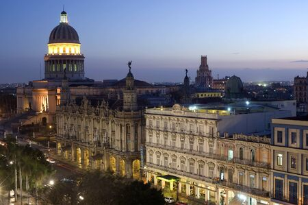 capitolio: This image shows the Capitolio by night - Havana, Cuba Editorial