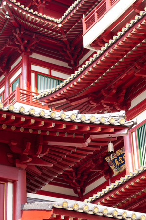 relic: This image shows the detail of the Buddhas Relic Tooth Temple in Singapore Chinatown