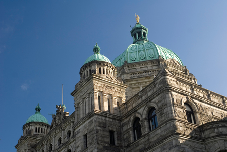 legislature: This image shows the Parliament Building, Victoria, Canada Stock Photo