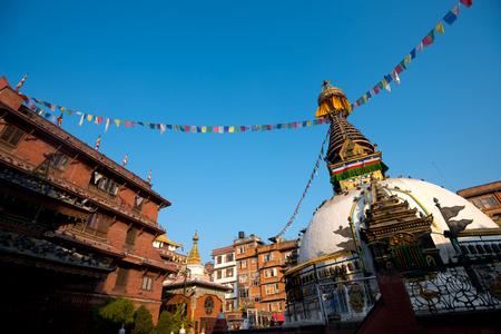 shree: This image shows Shree Gha Stupa, in Kathmandu, Nepal Stock Photo