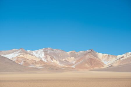 stark: This image shows the colors of the stark High Andean Bolivian landscape. Stock Photo