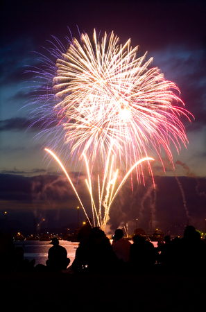 glow pyrotechnics: This image shows a Fireworks display