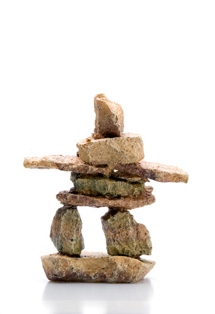 This image shows an Inukshuk Statue