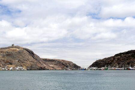 newfoundland: This image shows St John's, Newfoundland Harbor, Canada