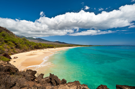 This image shows Makena Beach, in Maui, Hawaii