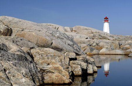nova: This image shows Peggy`s Cove, Nova Scotia - Lighthouse Stock Photo