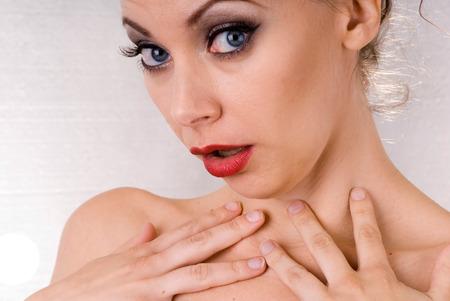 beaux yeux: Cette image montre une jolie femme avec de beaux yeux Banque d'images