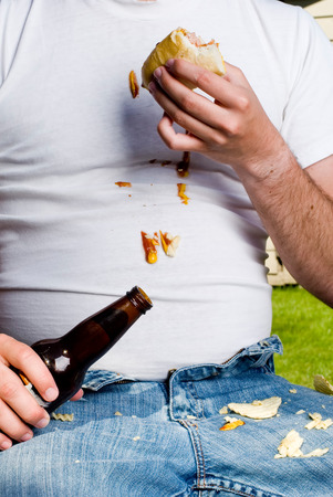 slob: This image shows a Messy Guy at a BBQ