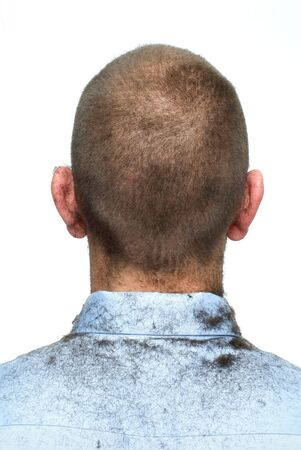 This image shows a Businessman with a  Conformist haircut (Back Shot)