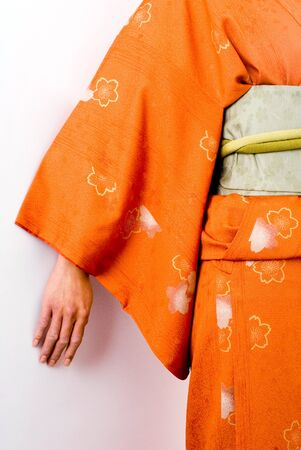 teh: This image shows teh detail of a colourful kimono