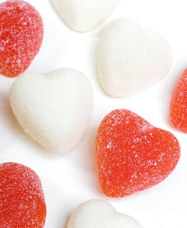 sentiment: This image shows Red and White Candy Hearts