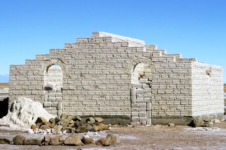 barrack: This image was shot in Bolivia on the Salar de Uyuni and shows a Salt Brick Building.