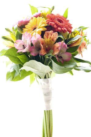 bouquet flowers: This image shows a bridal bouquet