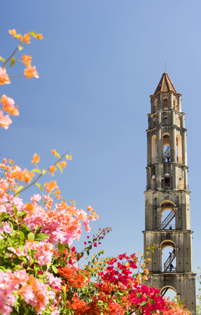 high angles: This image shows a slave watch tower in the Valle de losIngenios near Trinidad, Cuba Stock Photo