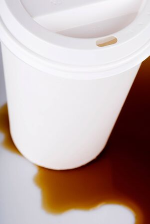 coffee spill: This image shows a Disposable Coffee Cup Spill