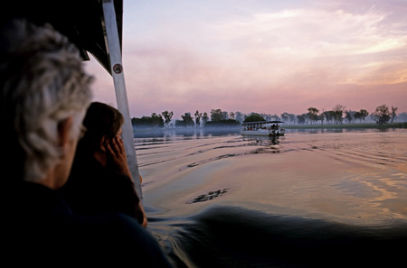 serine: This image was shot in the Kakadu National Park, Australia on the Yellow Waters River Cuise at Dusk