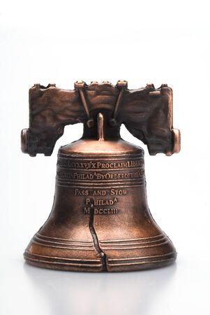 liberty bell: This image shows a Liberty Bell Statue