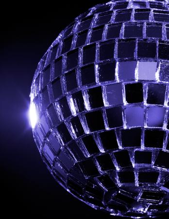 hued: This image shows a Blue hued Disco Ball