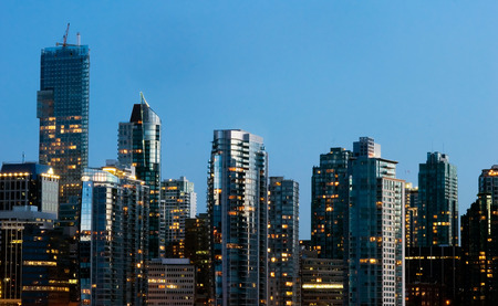 nightscene: This image shows Coal Harbour Urbanscape - Vancouver, Canada