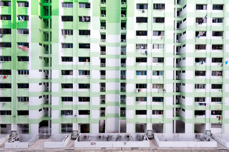 hdb: This image shows the dense HDB Housing, in Singapore