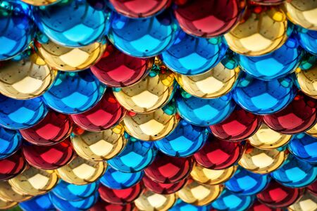 brightly: Festive Brightly Coloured Spheres Stock Photo