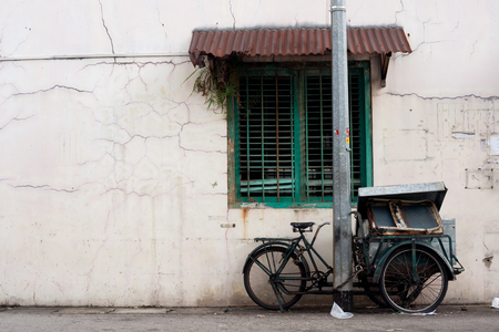 trishaw: Vendor Bike Cart in Singapore Stock Photo