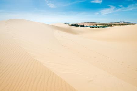 ne: White sand dunes. of Mui Ne, Vietnam Stock Photo