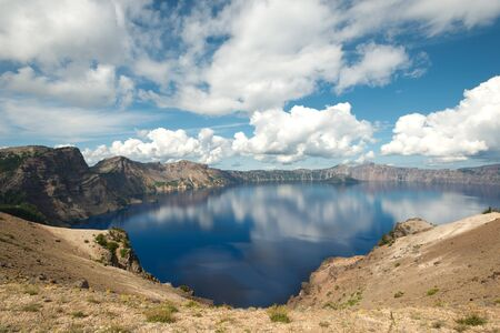 crater: This image shows Crater Lake, in  Oregon, USA