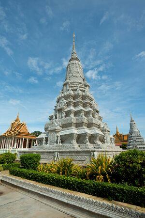penh: This image shows the SIlver Pagoda Complex, in Phnom Penh, Cambodia Stock Photo