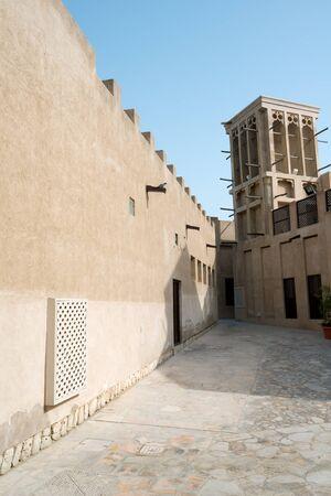 bastakiya: This image shows Bastakiya Quarter Architecture, Dubai, UAE