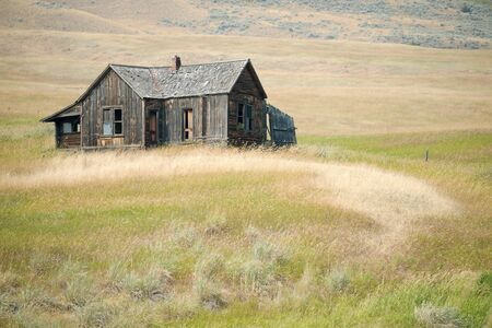 This image shows a rural homestead in Washington State, USA