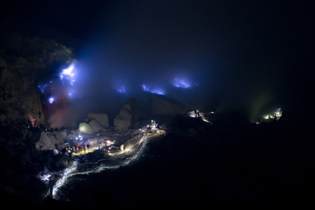 blue flame: This image shows the Blue Flame, at Kawah Ijen Crater, Indonesia