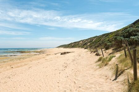 lonsdale: This image shows Beach at Point Lonsdale, Victoria, Australia Stock Photo