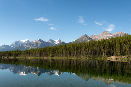 rockies: This image shows the Canadian Rockies in Banff National Park, Alberta, Canada Stock Photo