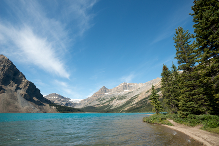 banff: This image shows the Canadian Rockies in Banff National Park, Alberta, Canada Stock Photo
