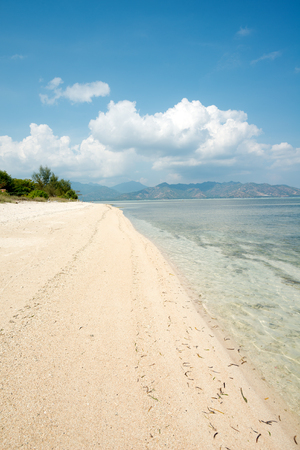 nusa: This image shows a Beach scene on Gili Air, in West Nusa Tenggara, Indonesia