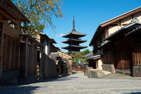 This image shows Yasaka-no-to Pagoda in Kyoto, Japan