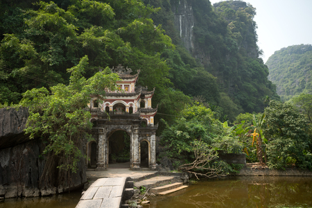 dong: This image shows Bich Dong Pagoda in Ninh Binh, Vietnam Stock Photo