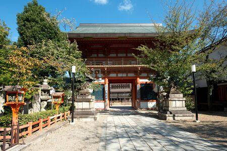 This image shows the Yasaka Shrine, in Kyoto, Japan