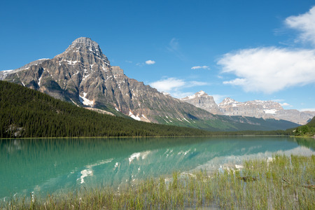 canadian rockies: This image shows the Canadian Rockies in Banff National Park, Alberta, Canada Stock Photo