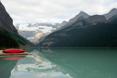 alberta: This image shows Lake Louise in Alberta, Canada Stock Photo