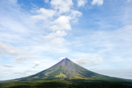 mayon: This image shows Mayon Volcano on the island of Luzon in the Philippines. Stock Photo