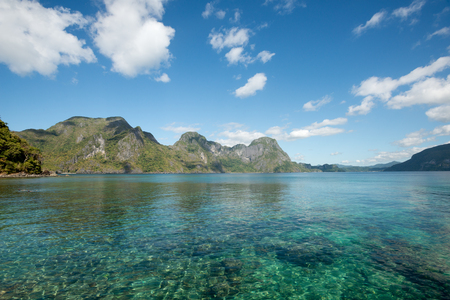 nido: This image shows Helicopter Island, El Nido, Palawan, The Philippines Stock Photo