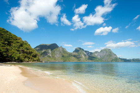 This image shows Helicopter Island, El Nido, Palawan, The Philippines Stock Photo