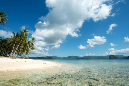 nido: This image shows a Tropical Beach in El Nido, Palawan, The Philippines Stock Photo
